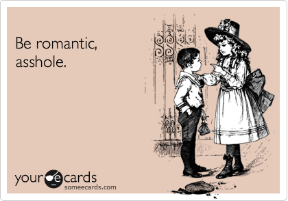 Girl admonishes younger boy to be romantic