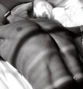male torso black and white