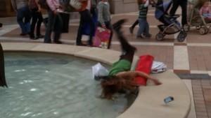Tina fall Glee